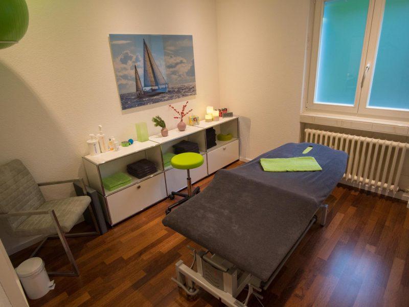 Behandlungsraum für Ihre individuelle physiotherapeutische Behandlung